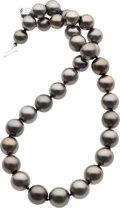 Estate Jewelry:Lots, SOUTH SEA CULTURED PEARL, WHITE GOLD NECKLACE. ...