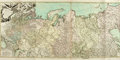 """Books:Maps & Atlases, [Maps]. Robert de Vaugondy. Hand-Colored Map of the Russian Empire. 1753. Measures 52.5"""" x 22.5"""". Five vertical creases, wit..."""
