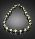 Meteorites:Moldavite, TEKTITE NECKLACE: AN OUT-OF-THIS-WORLD OCCURENCE. Stone Source:Egypt and Czech Republic. ...