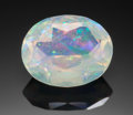 Gems:Faceted, FINE GEMSTONE: OPAL - 3.54 CT.. Andamooka, Australia. ...