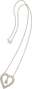 Jewelry, DIAMOND, PLATINUM, WHITE GOLD NECKLACE. Property Sold to Benefit the University of Miami...