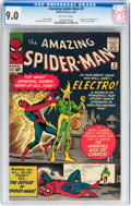 Silver Age (1956-1969):Superhero, The Amazing Spider-Man #9 (Marvel, 1964) CGC VF/NM 9.0 Off-whitepages....