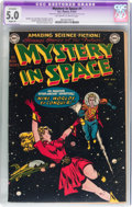 Golden Age (1938-1955):Science Fiction, Mystery in Space #1 (DC, 1951) CGC Apparent VG/FN 5.0 Slight (P)Off-white to white pages....