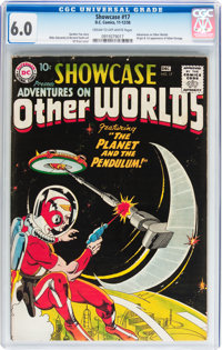 Showcase #17 Adventures on Other Worlds (DC, 1958) CGC FN 6.0 Cream to off-white pages