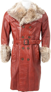 Elvis Presley Owned and Worn Leather Coat (Lansky Brothers, c. 1960s)