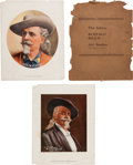 "Antiques:Posters & Prints, ""Buffalo Bill"" Cody and Indian Chiefs: A Scarce Folio of Large Color Portrait Prints. ..."