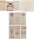 "Miscellaneous:Ephemera, W. F. ""Doc"" Carver: Early 1870-80s Letters and PromotionalMaterial. ... (Total: 5 Items)"