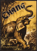 "Movie Posters:Documentary, Chang: A Drama of the Wilderness (Paramount, 1927). German Program (Multiple Pages, 9"" X 12.5""). Documentary.. ..."