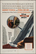 """Movie Posters:Hitchcock, The Wrong Man (Warner Brothers, 1957). One Sheet (27"""" X 41"""").Hitchcock.. ..."""