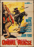"Movie Posters:Western, Stagecoach (Colombus Film, R-1960). Italian 2 - Foglio (39"" X 55"").Western.. ..."