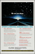 "Movie Posters:Science Fiction, Close Encounters of the Third Kind (Columbia, 1977). One Sheet (27""X 41"") UFO Facts Style. Science Fiction.. ..."
