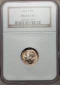 Roosevelt Dimes: , 1951-S 10C MS67 ★ Full Bands NGC. NGC Census: (69/1). PCGSPopulation (49/6). Mintage: 31,630...