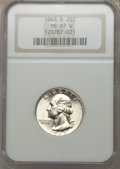 Washington Quarters, 1963-D 25C MS67 White NGC. NGC Census: (30/0). PCGS Population(13/0). Mintage: 135,288,192. Numismedia Wsl. Price for prob...