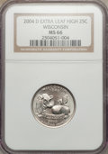 Statehood Quarters, 2004-D 25C Wisconsin Extra Leaf High MS66 NGC. NGC Census: (23/1).PCGS Population (157/2). Numismedia Wsl. Price for prob...