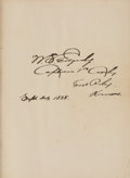 Autographs:Military Figures, W. S. Edgerly: Two Signed Books from the Library of this Little Big Horn Participant and Later Controversial Critic. ... (Total: 2 Items)