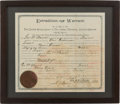 Autographs:Celebrities, Indian Territory 1897-Dated Extradition Warrant for a Texas HorseThief....