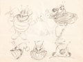 animation art:Model Sheet, The Pest Who Came to Dinner Model Sheet (Warner Brothers,1948)....
