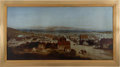 Western Expansion:Goldrush, San Francisco: Framed Copy of 1850 Painting....