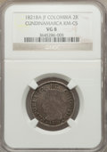 Colombia, Colombia: Cundinamarca 2 Reales 1821 Ba-JF VG8 NGC,...