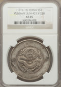 China:Yunnan, China: Yunnan. Dollar ND (1911-15) XF45 NGC,...