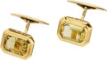 Estate Jewelry:Cufflinks, HELIODOR, GOLD CUFF LINKS. ...