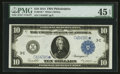 Large Size:Federal Reserve Notes, Fr. 915c* $10 1914 Federal Reserve Note PMG Choice Extremely Fine 45 EPQ.. ...