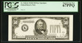 Small Size:Federal Reserve Notes, Fr. 2106-K $50 1934D Face Specimen Federal Reserve Note. PCGS Superb Gem New 67PPQ.. ...
