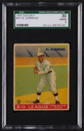 Baseball Cards:Singles (1930-1939), 1933 Goudey Al Simmons #35 SGC 30 Good 2....