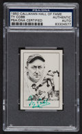 Autographs:Sports Cards, Signed 1950 Callahan Hall of Fame Ty Cobb Card....