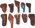 Western Expansion:Cowboy, Ten Western Leather Holsters. ... (Total: 10 )