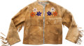 """Western Expansion:Cowboy, Attractive Beaded Hide """"Wild West Show"""" Jacket...."""