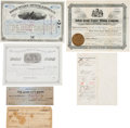 Western Expansion:Goldrush, Black Hills: Assorted Mining Ephemera.... (Total: 7 Items)