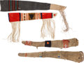 Western Expansion:Cowboy, Four Colorful Hide & Cloth Rifle Scabbards.... (Total: 4 Items)