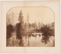 Photographs:Albumen, CARLETON E. WATKINS (American, 1829-1916). Untitled (On a Lake out West), circa 1861. Albumen. 16-1/2 x 20 inches (41.9 ...