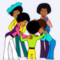 Animation Art:Production Cel, Jackson 5ive Production Cel Setup and Drawing Group(Rankin-Bass, 1972).... (Total: 6 Original Art)