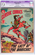 Golden Age (1938-1955):Classics Illustrated, Classic Comics #4 Last of the Mohicans - Original Edition(Gilberton, 1942) CGC Apparent VF- 7.5 Slight (A) Off-whitepages....