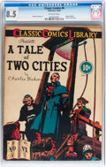 Golden Age (1938-1955):Classics Illustrated, Classic Comics #6 A Tale of Two Cities - Original Edition (Gilberton, 1942) CGC VF+ 8.5 Off-white pages....