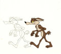 Animation Art:Production Cel, Wile E. Coyote Production Cel and Matching Drawing (WarnerBrothers, c. 1970s).... (Total: 2 Original Art)
