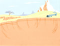 Animation Art:Production Drawing, Road Runner Production Background (Warner Brothers, 1950s)....