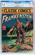Golden Age (1938-1955):Classics Illustrated, Classic Comics #26 Frankenstein - Original Edition (Gilberton,1945) CGC VF- 7.5 Off-white to white pages....