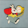 Animation Art:Production Cel, Alice in Wonderland White Rabbit Production Cel (WaltDisney, 1951)....