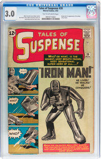 Tales of Suspense #39 (Marvel, 1963) CGC GD/VG 3.0 Tan to off-white pages