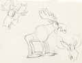 Animation Art:Limited Edition Cel, Moose Hunters Red Moose Character Sketch and Model Sheet Print (Walt Disney, 1937).... (Total: 2 Original Art)