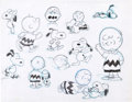animation art:Model Sheet, The Charlie Brown and Snoopy Show Model Sheet Art (BillMelendez, 1982)....