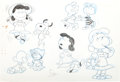 animation art:Model Sheet, The Charlie Brown and Snoopy Show Lucy Model Sheet (BillMelendez, 1982)....