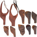 Western Expansion:Cowboy, Ten Western Leather Holsters.... (Total: 10 )