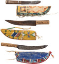 Western Expansion:Indian Artifacts, Three Plains Indian Knives.... (Total: 3 Items)