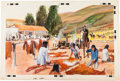 Western Expansion:Goldrush, Early California: Original Gouache Illustration....