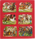 "Western Expansion:Cowboy, William F. ""Buffalo Bill"" Cody: 1890 Wild West Show GermanDie-Cuts...."