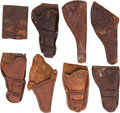 Western Expansion:Cowboy, Eight Western Holsters, All by Identified Makers.... (Total: 8 )